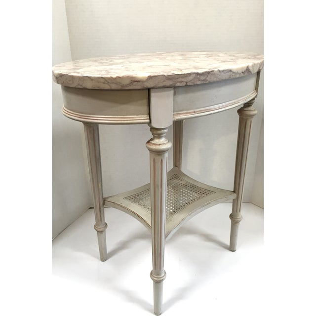 French Marble Top Side Table - Image 6 of 10
