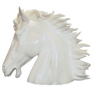 White Italian Ceramic Horse
