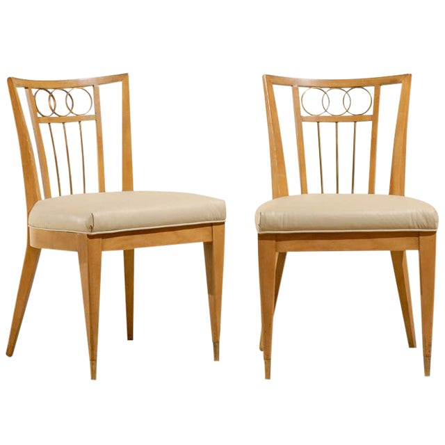 Set of Four (4) Chairs in the Style of Michael Taylor For Sale