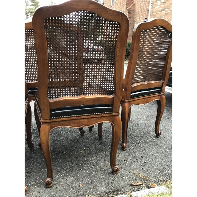Bodart French Louis XIV Caned Leather Dining Chairs -Set of 6 For Sale In New York - Image 6 of 13