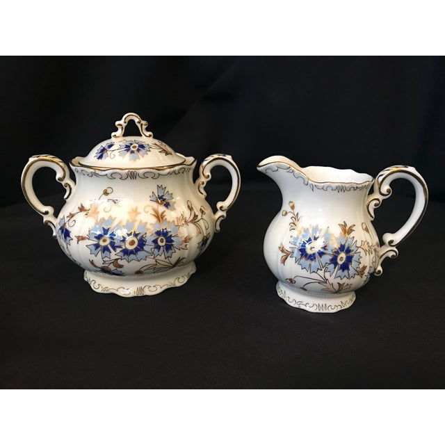 Zsolnay Vintage Zsolnay Hand Painted Porcelain Coffee Set of 15 For Sale - Image 4 of 7