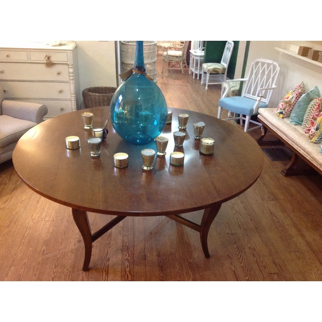 Antique Cherry Round Table - Image 4 of 6