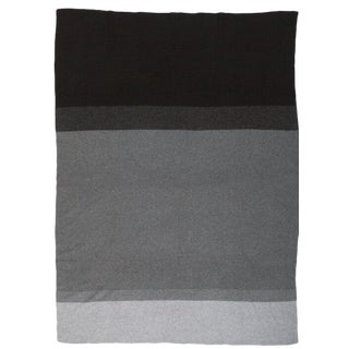 """Array Cashmere Blanket, Charcoal, 50"""" x 67"""" For Sale"""