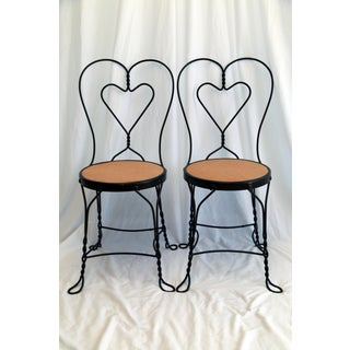 1950s Vintage Ice Cream Parlor Chairs- a Pair Preview