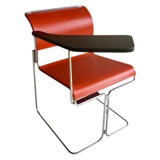 Mid Century Modern Harter Tablet Arm Chair Vinyl & Chrome For Sale