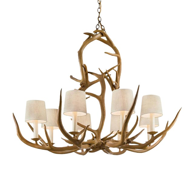 Natural Antler Pendant Light For Sale