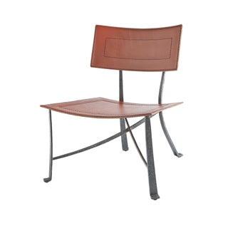 Selamat Designs Klismos Wrought Iron Lounge Chair