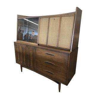 Mid Century Broyhill Premier Sculptra Hutch For Sale