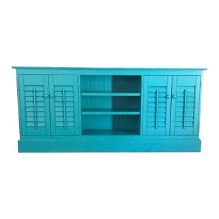 Plantation Shutter Buffet Cabinet For Sale