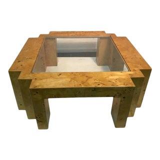 Burlwood Coffee Table by Milo Baughman For Sale