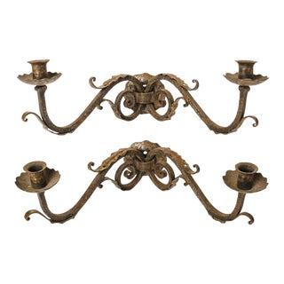 Pair of Fine Two-Arm Sconces For Sale