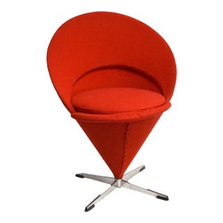 1958 Red Verner Panton Cone Chair