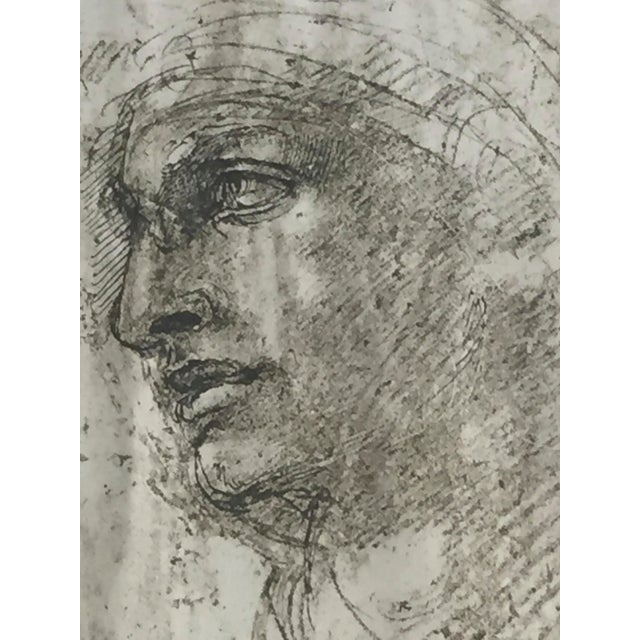 "Michelangelo ""Head of a Youth"" British Museum Fine Art Print - Image 3 of 7"