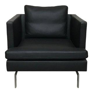 Didier Gomez for Ligne Roset 'Stricto Sensu' Black Leather Armchair