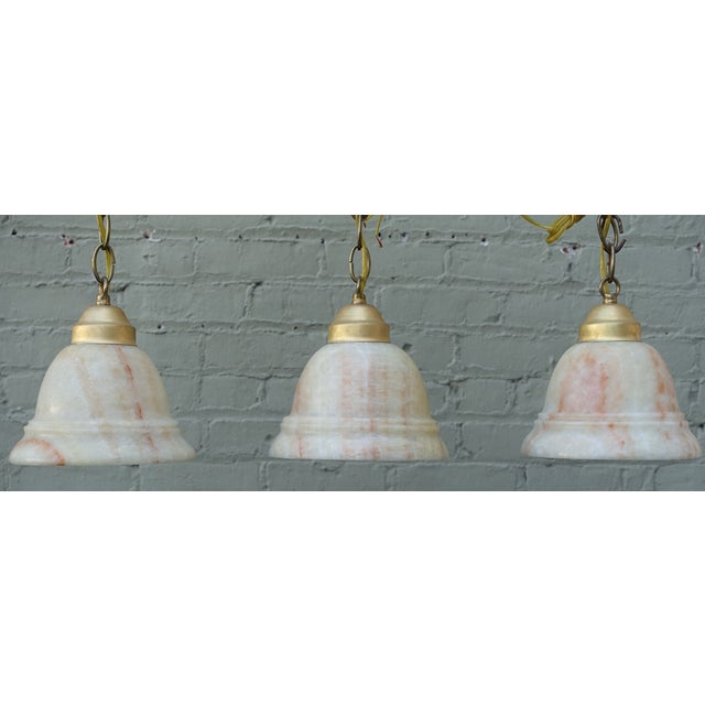 Alabaster Pendant Light Fixtures - 3 - Image 2 of 7