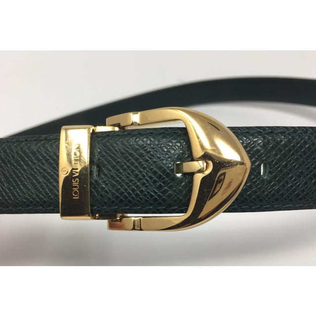 Louis Vuitton Emerald Green Ladies Leather Belt For Sale In Greensboro - Image 6 of 7