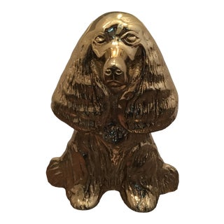 1940s Vintage Virginia Metalcrafters Dream Boy Spaniel Dog Door Stop For Sale