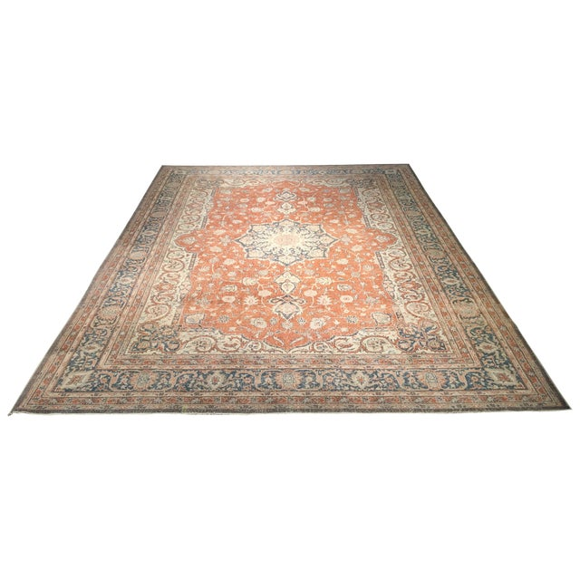 "Vintage Turkish Oushak Rug - 8'9"" x 11'10"" - Image 1 of 8"