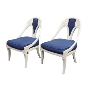 1960s Vintage French Continental Style Accent Chairs- A Pair For Sale