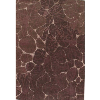 """Pasargad Ny Modern Hand-Tufted Area Rug - 5'3"""" X 7'5"""" For Sale"""