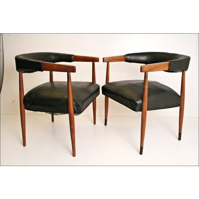 Danish Modern Accent Chairs - Pair - Image 2 of 11