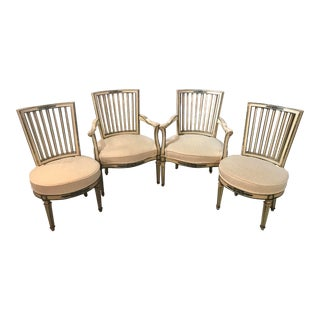 Classical Italian Dining Chairs Set of 4 For Sale
