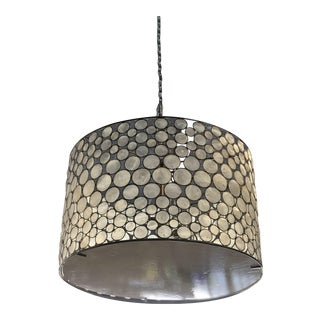 Mid-Century Modern Style Capíz Shell Chandelier For Sale