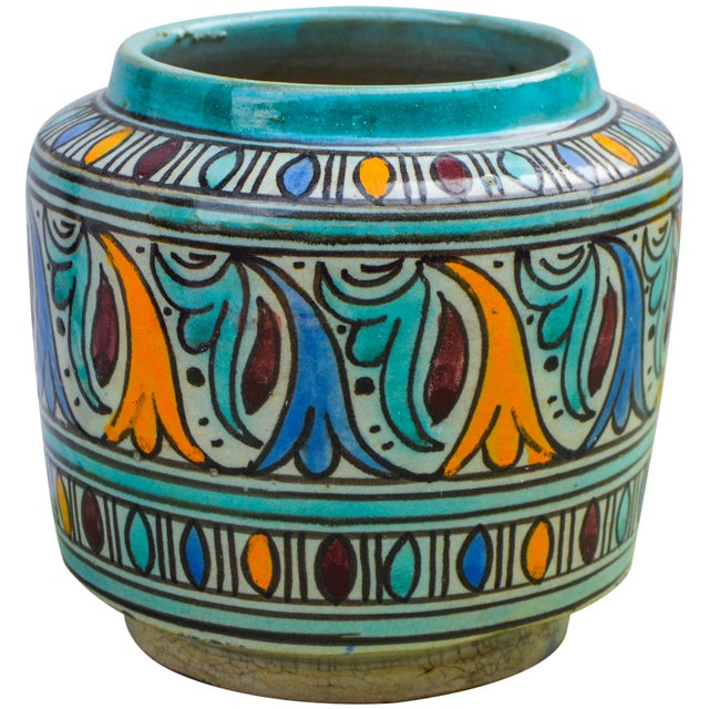 Moorish-Patterned Ceramic Lidded Jar For Sale In New York - Image 6 of 10