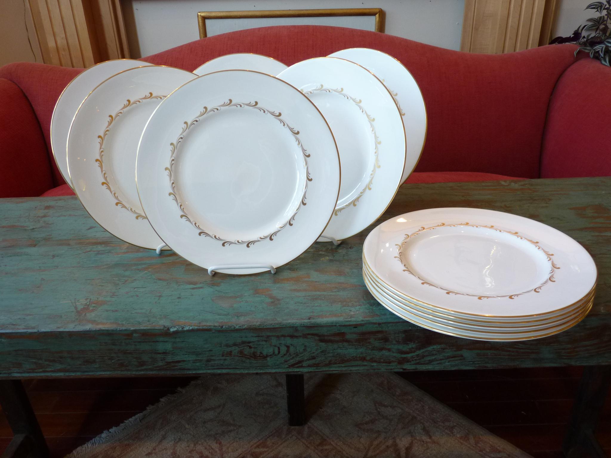 Royal Doulton Gold Rim Dinner Plates - Set of 10 - Image 2 of 7  sc 1 st  Chairish & Royal Doulton Gold Rim Dinner Plates - Set of 10 | Chairish