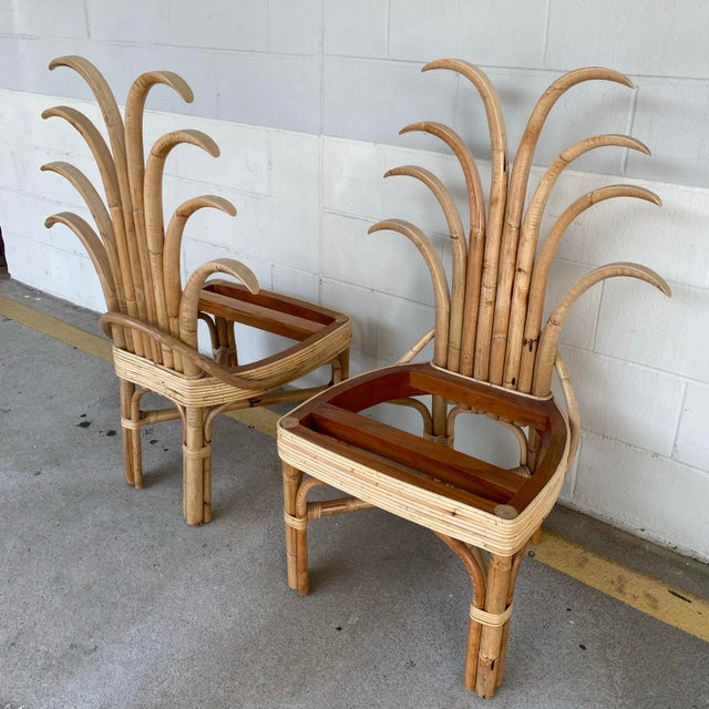 Palm Frond Dining Chairs - a Pair For Sale - Image 4 of 10