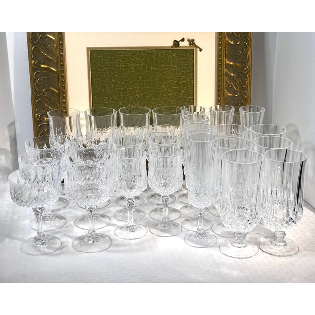 This is for a set of 5 pieces per place setting, and includes 6 settings for a total of 30 glasses. All are in perfect...