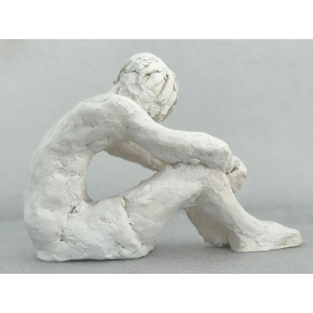 Seated Man Abstract Pottery Figure - Image 4 of 5