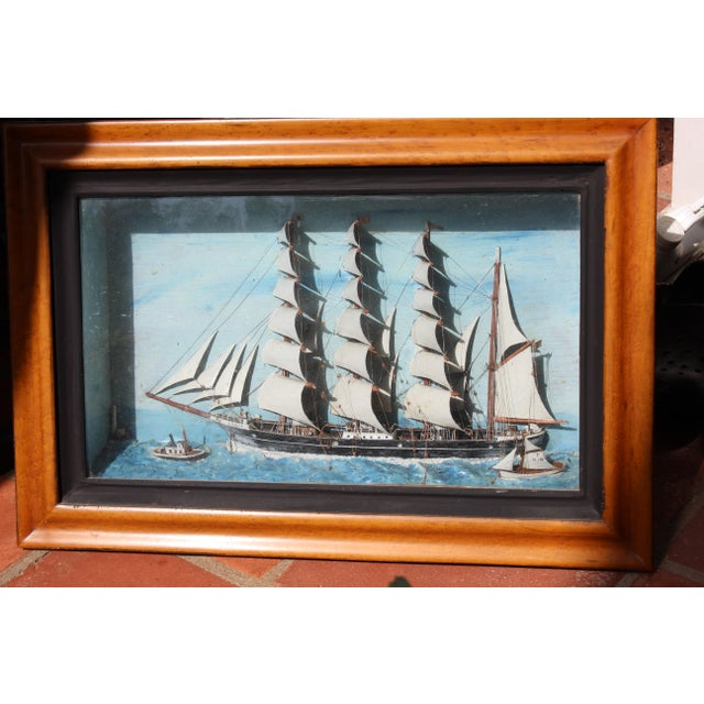 19th C. Antique Ship Model of American Sailing Ship.
