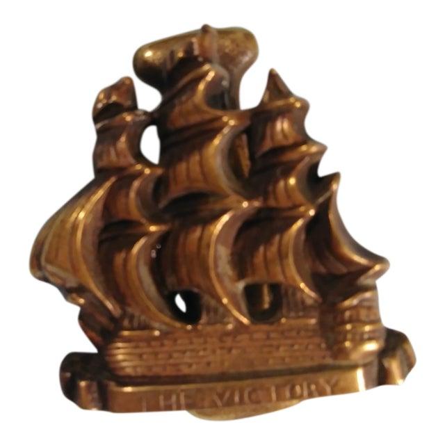 Vintage Victory Ship Brass Door Knocker For Sale