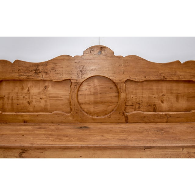 Pine and Oak Bench or Settle For Sale In Baltimore - Image 6 of 13