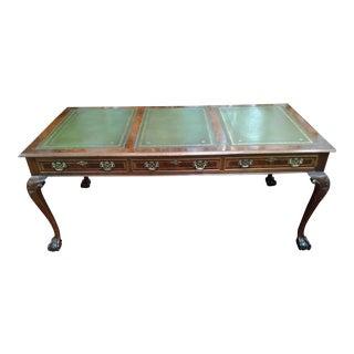 George III Style Mahogany Desk