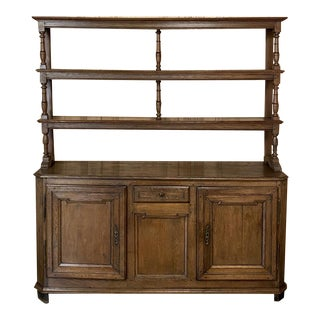 Early Country French Rustic Vaisselier Buffet For Sale
