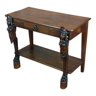 Figural American Aesthetic Antique Side Table For Sale