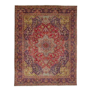 "Tabriz Persian Rug, 9'10"" x 12'10"" feet"