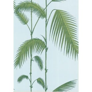 Cole & Son Palm Leaves Wallpaper Roll - Pale Bl For Sale