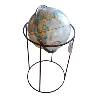Paul McCobb Replogle Wold Globe on Brass Stand For Sale