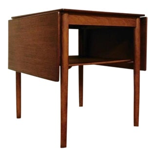 Danish Modern Arne Vodder For Sibast Teak Draw Leaf End Table