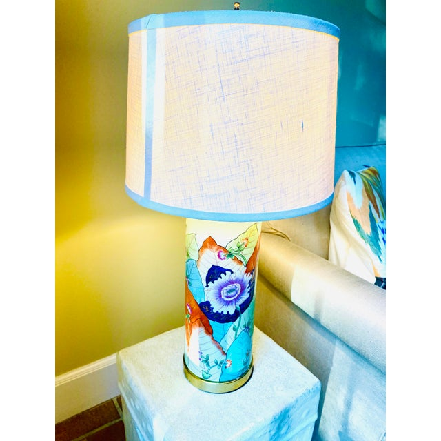 1980s Porcelain Tobacco Leaf Table Lamp For Sale - Image 11 of 13