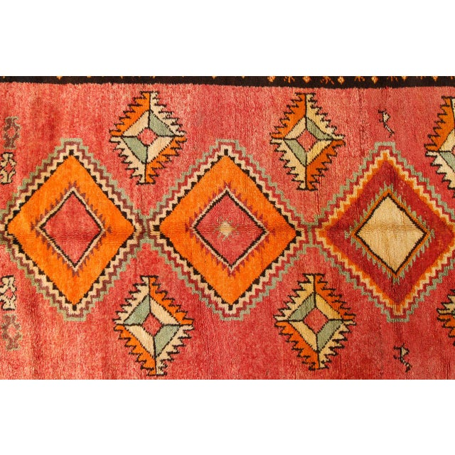 African Vintage Moroccan Tribal Rug Runner Matisse Style For Sale - Image 3 of 7