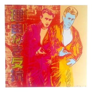 "Andy Warhol Estate Rare Vintage 1990 Collector's Pop Art Lithograph Print "" Rebel Without a Cause - James Dean "" 1985 For Sale"