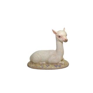 Vintage Porcelain Llama Figurine For Sale