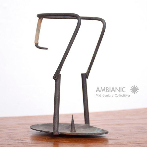 1950s Mid-Century Bronze Candle Holder For Sale - Image 5 of 8
