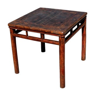 Antique Country Table Square Game Table For Sale