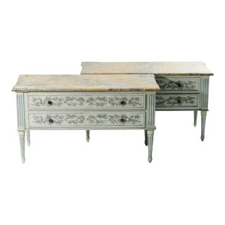 Italian Faux Painted Oversized Chests For Sale