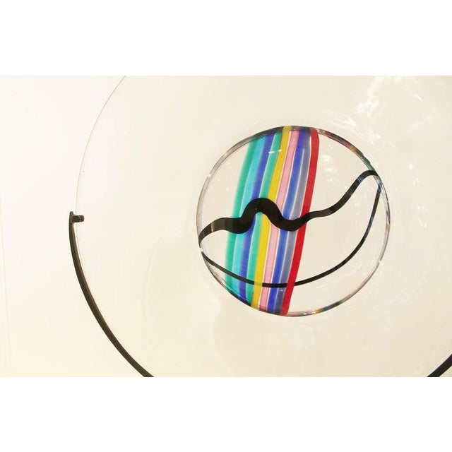 Mid-Century Modern Glass Disc by Livio Seguso for Oggetti, Italy, Circa 1970s For Sale - Image 3 of 7